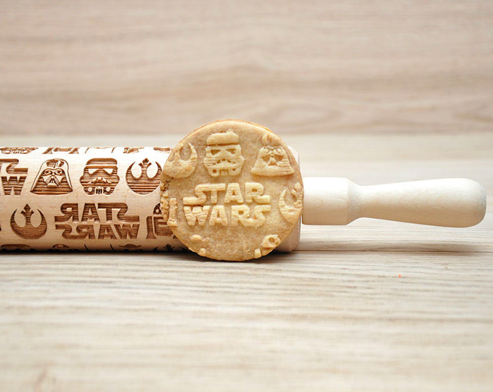 star wars rolling pin cookie