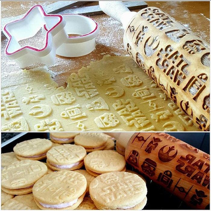 star wars rolling pin geeky cookies