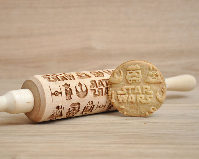 star wars rolling pin with cookir recipe