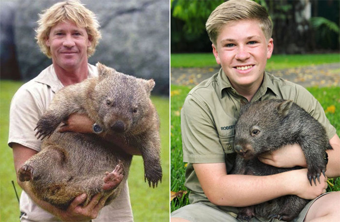steve and robert irwin wombat
