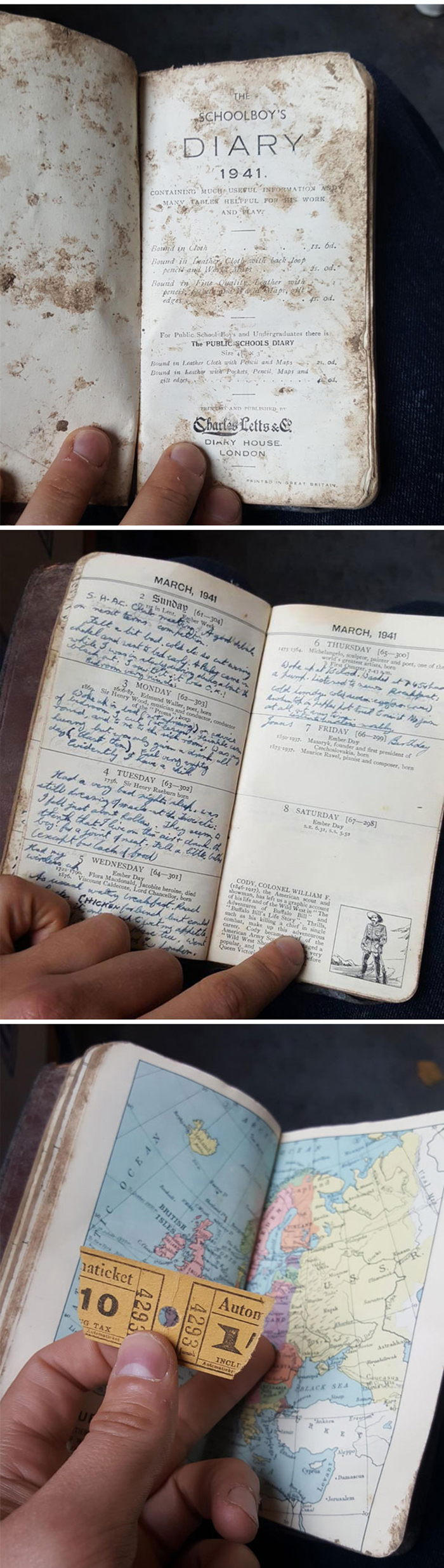strange things discovery old diary