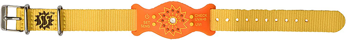 sunfriend ultraviolet monitoring device orange