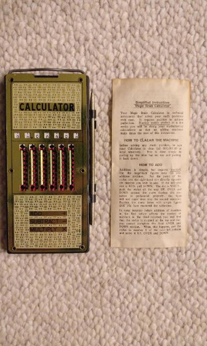 unusual discoveries vintage calculator
