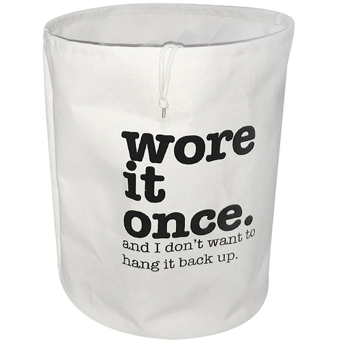 wore it once laundry bag ivory