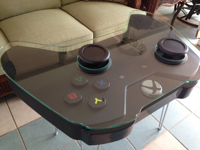 xbox one controller coffee table with glass top