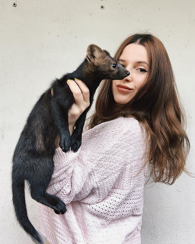 zhenya and the sable she rescued