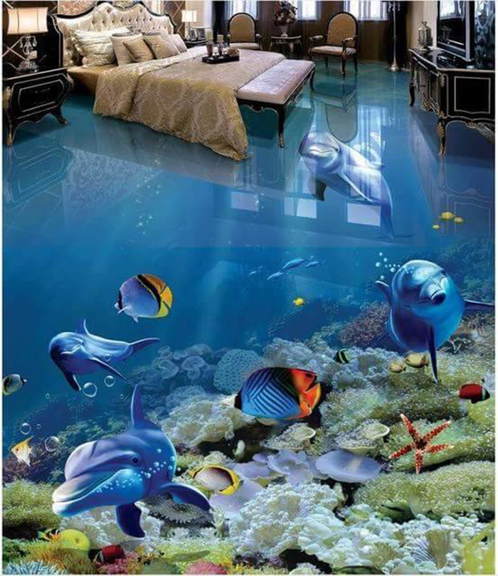 These 3d Epoxy Floors Can Turn Any Floor In Your Home Into Ocean Waves Rivers Green Landscapes And More