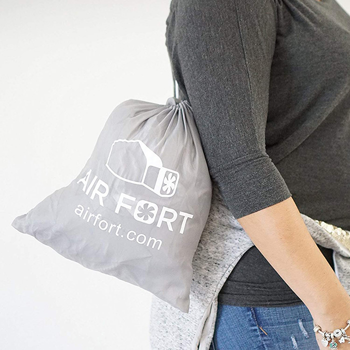 Air Fort Drawstring Bag Packaging