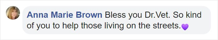 Anna Marie Brown Facebook Comment