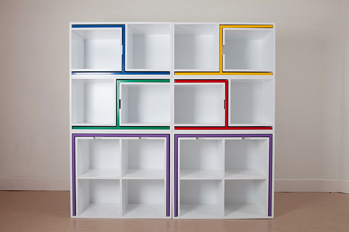 As If From Nowhere Bookcase by Orla Reynolds Studio