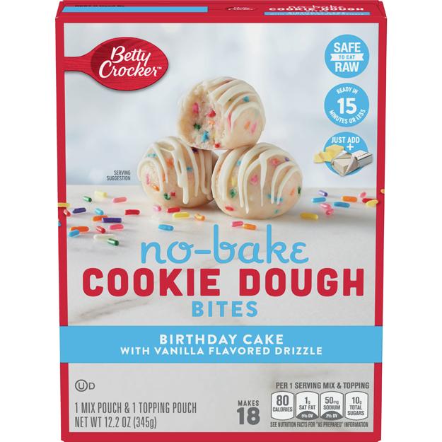 Birthday Cake No-Bake Cookie Dough Bites
