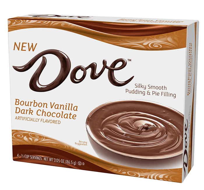 Bourbon Vanilla Dark Chocolate Silky Smooth Pudding and Pie Filling