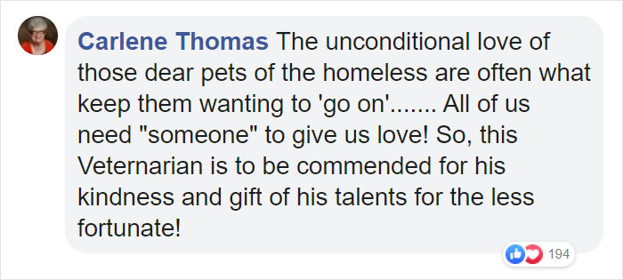 Carlene Thomas Facebook Comment