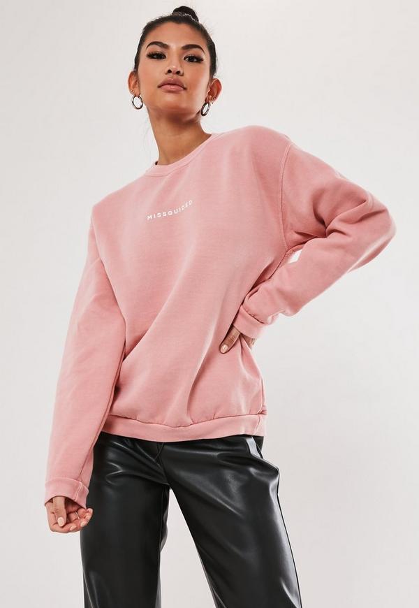 Coral Brand Logo Sweatshirt