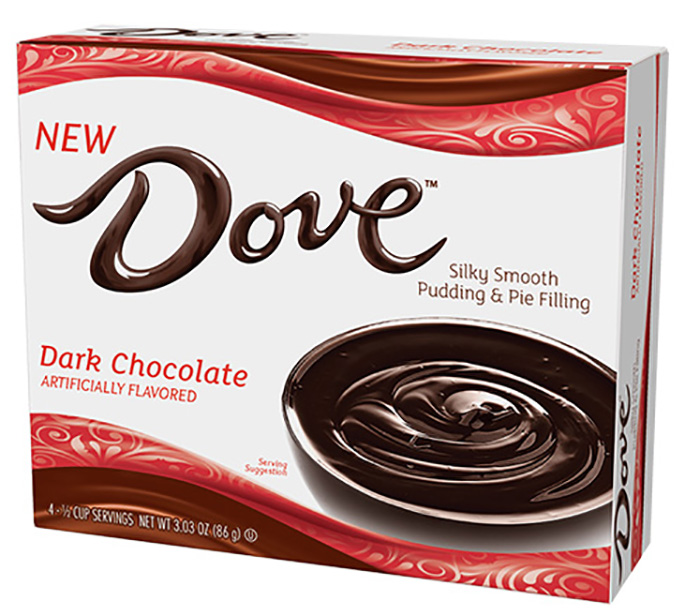 Dove Dark Chocolate Silky Smooth Pudding and Pie Filling