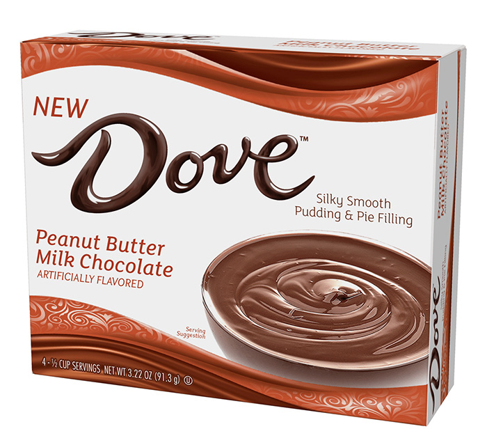 Dove Peanut Butter Milk Chocolate Silky Smooth Pudding and Pie Filling