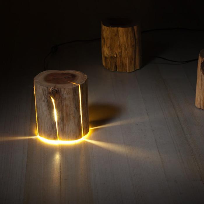 Duncan Meerding Design Log Lamps