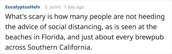 EucalyptusHelv Reddit Comment on 'Where's Waldo' Coronavirus Edition