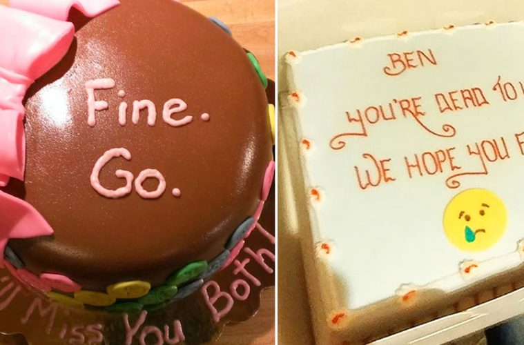 Funny farewell cakes