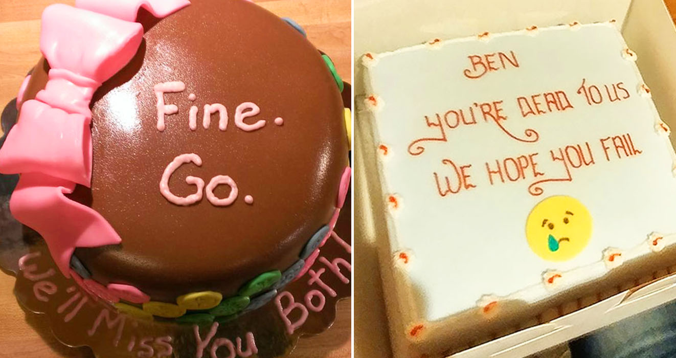 Phenomenal 30 Funny Farewell Cakes That Employees Received On Their Final Day Funny Birthday Cards Online Fluifree Goldxyz