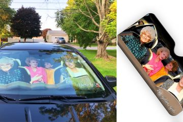 Golden Girls windshield cover