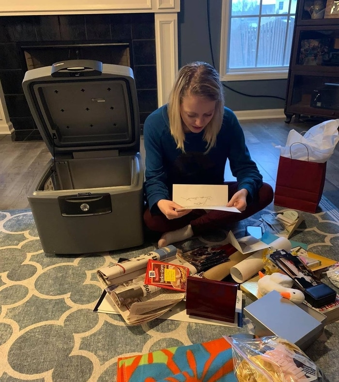 Gracie Chastain Going Through the Content of Her Time Capsule Gift