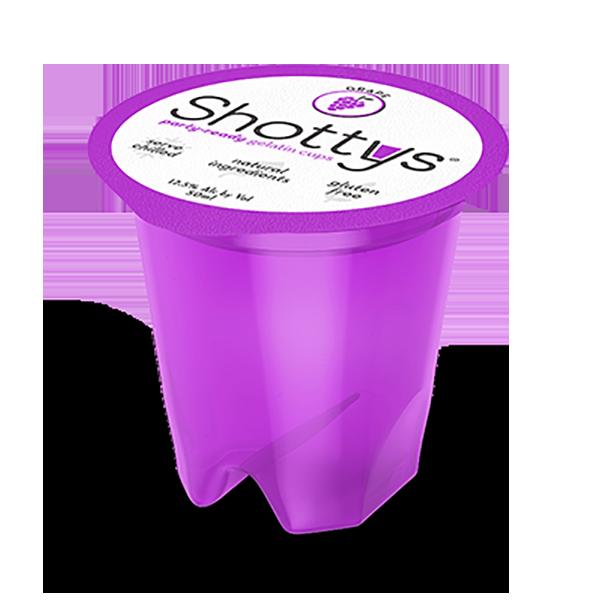 Grape-flavored gelatin shots