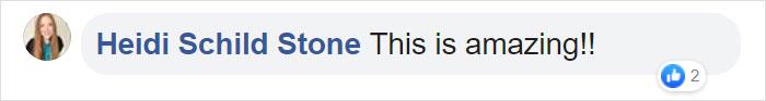 Heidi Schild Stone Facebook Comment