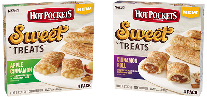 Hot Pockets Sweet Treats Cinnamon Roll and Apple Cinnamon