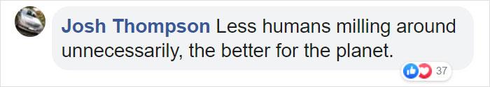 Josh Thompson Facebook Comment