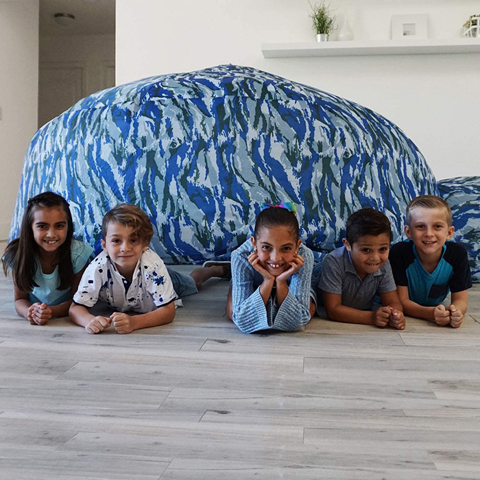 Kids Gathered Around Inflatable Play Tent