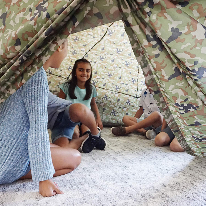 Kids Inside Jungle Camo Air Fort