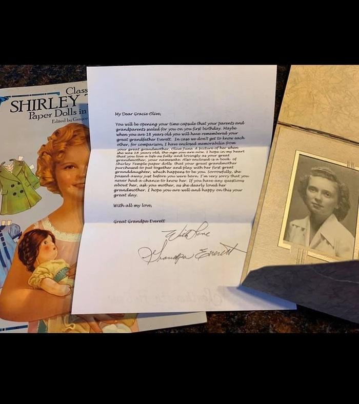 Letter from Great Grandpa Everett
