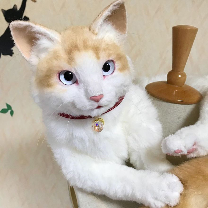 Lifelike Kitty Stuffed Toy Facial Features