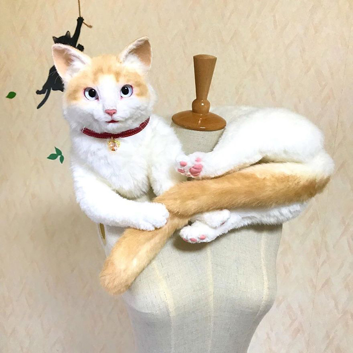 Lifelike Kitty Stuffed Toy