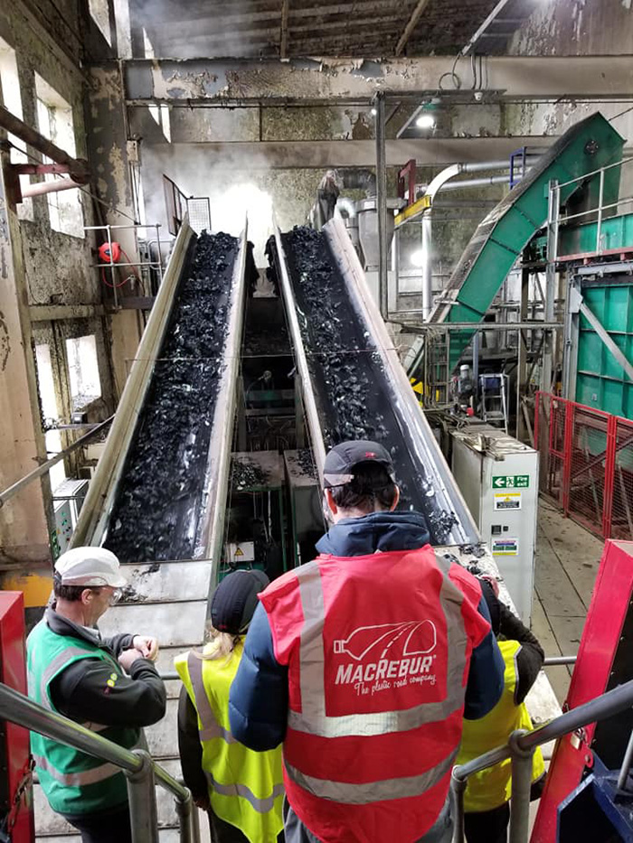 MacRebur Factory for Making Asphalt from Plastic Bottles