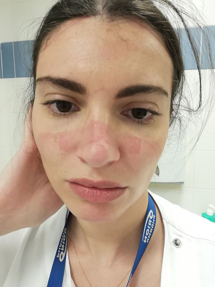 Martina Benedetti Selfie after Hospital Shift