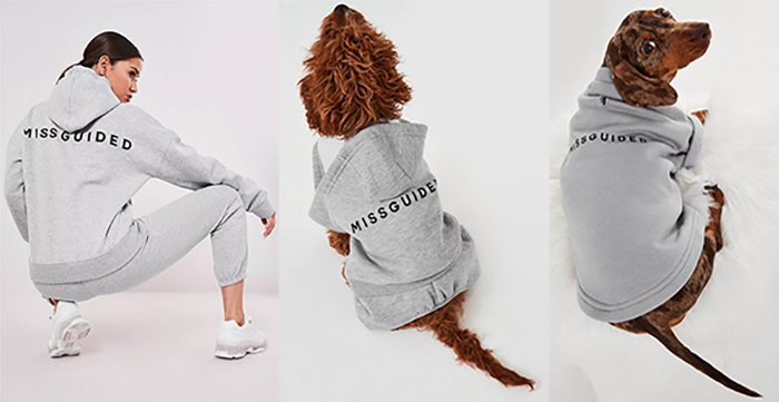 Matching gray Missguided hoodie loungewear