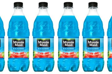 Minute Maid blue raspberry flavor