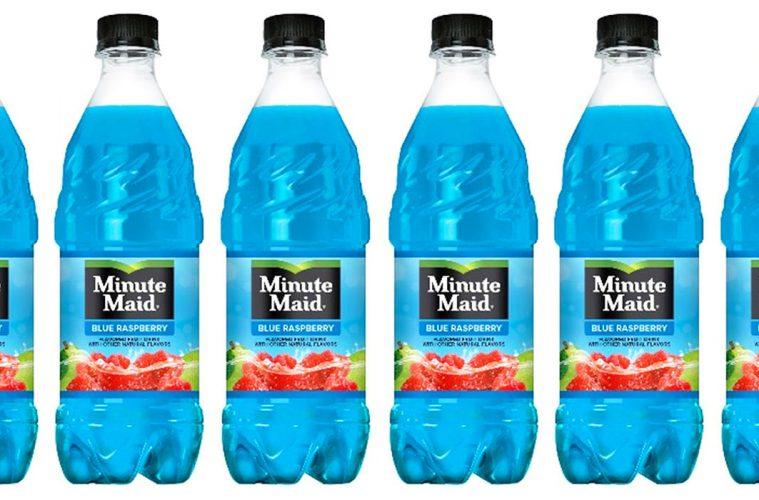 Minute Maid blue raspberry flavor