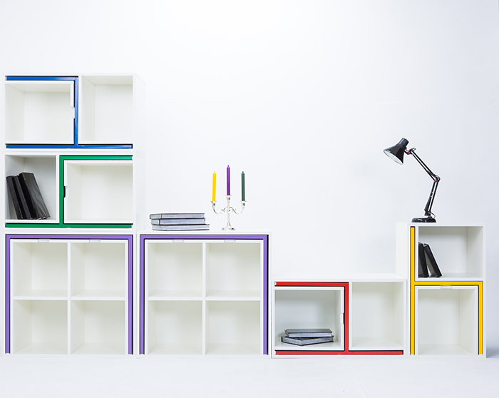 Modular Bookcase Long Configuration