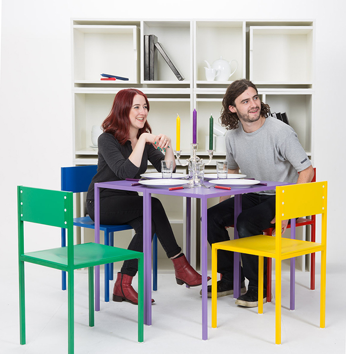 Modular Shelf with Table and Chairs