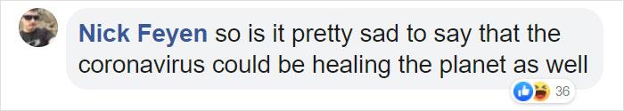 Nick Feyen Facebook Comment