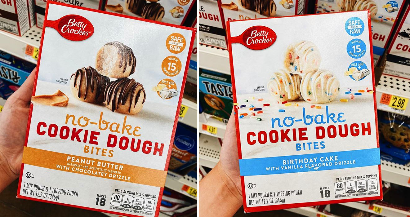 Betty Crocker Has Released No Bake Cookie Dough Bites In Different Flavors
