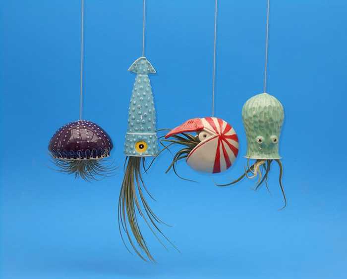 Ocean Animal Planters By Cindy Searles