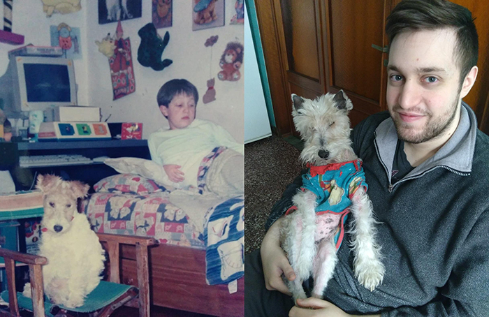 Owner and Puppy Growth Comparison 16 Years Later