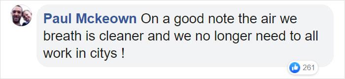Paul Mckeown Facebook Comment