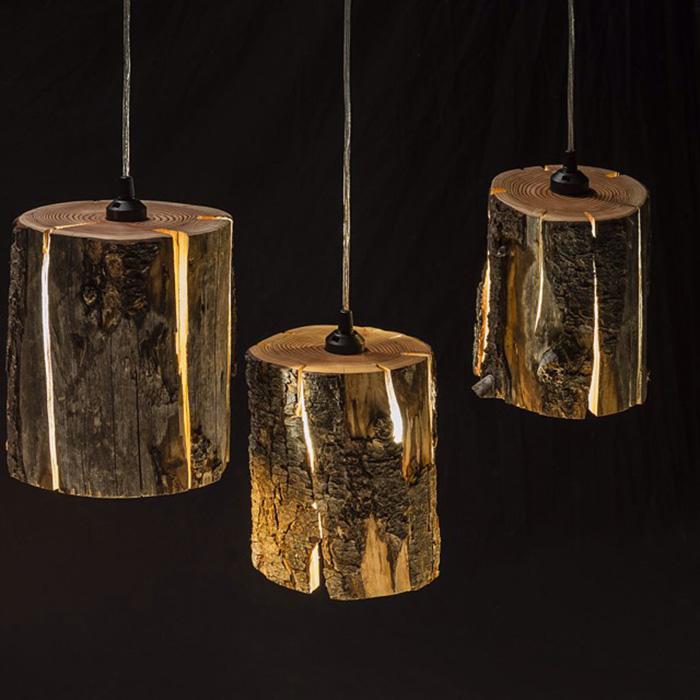 Pendant Lights Made of Wood