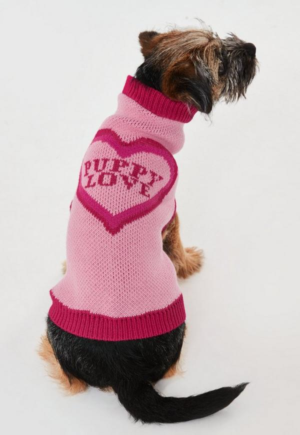 Pink Puppy Love Dog Jumper