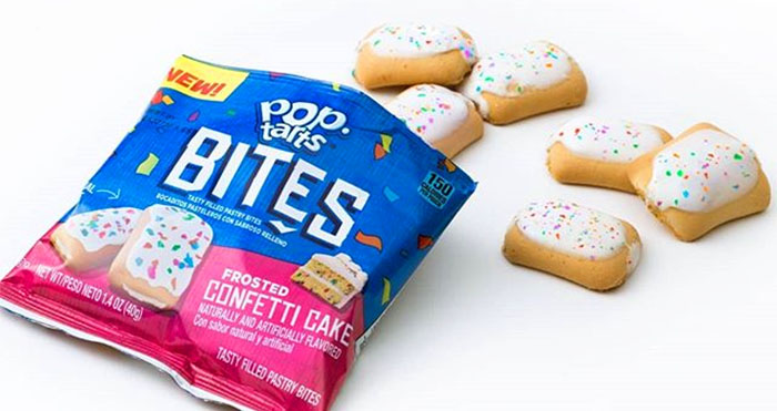 Pop-Tarts Bites Frosted Confetti Cake flavor